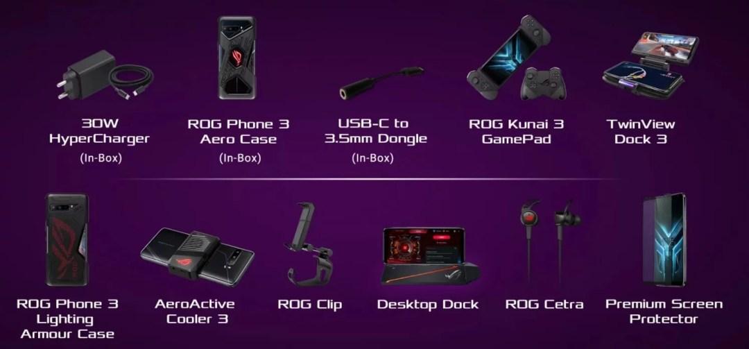 ASUS ROG Phone 3 accessories