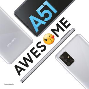 samsung galaxy a51 haze crush silver color