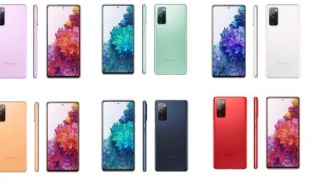 Samsung Galaxy S20 Fan Edition Colour Variants – Six Colors