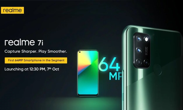 Realme 7i with 64MP quad rear cameras setup launching in India on October 7