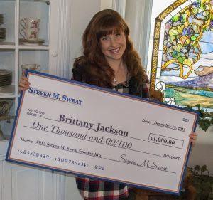 Brittany Jackson - 2015 Winner of the Steven M. Sweat Scholarship Essay Contest