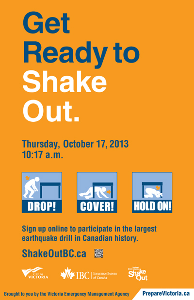 Poster Earthquake Drill