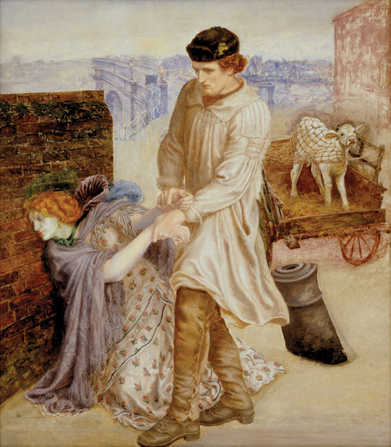 'Found' by Dante Gabriel Rossetti (1853-18700: Unfinished)