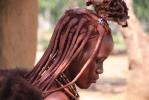 African culture: Himba girl from Namibia