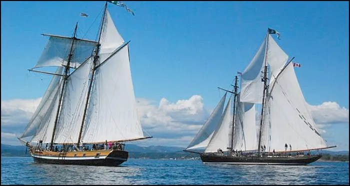 The topsail schooner Pacific Grace and the schooner Pacific Grace,
