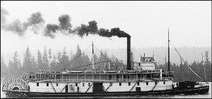 The steamship R.P. Rithet was one of the many steamboats constructed in Victoria to transport licensed gold miners from Victoria up the Fraser River to Fort Langley and Fort Yale. Accreditation:Website opposite the city