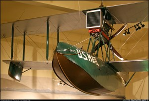 Hubbard's Boeing B1 fully restored and hanging in Seattle's Museum of History and Industry