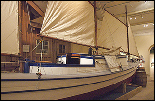 Tillikum is part of the Maritime Museum of British Columbia's collection of significant small craft.