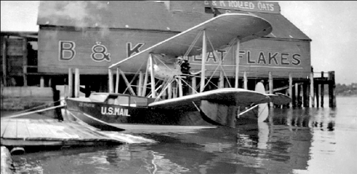 Hubbard's wharf at Brackman & Kerr Photo courtesy of BC Archives F-08943