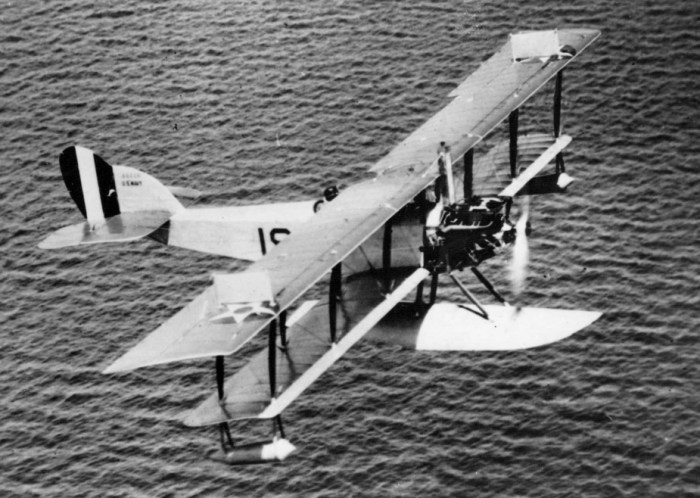 A Curtis N-9 seaplane in United States Army livery