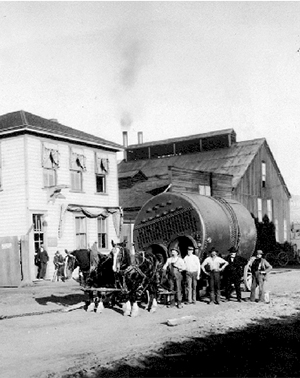 An early Albion Foundry boiler