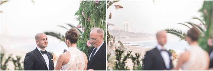 The views during a Bel Air Bay Club wedding ceremony