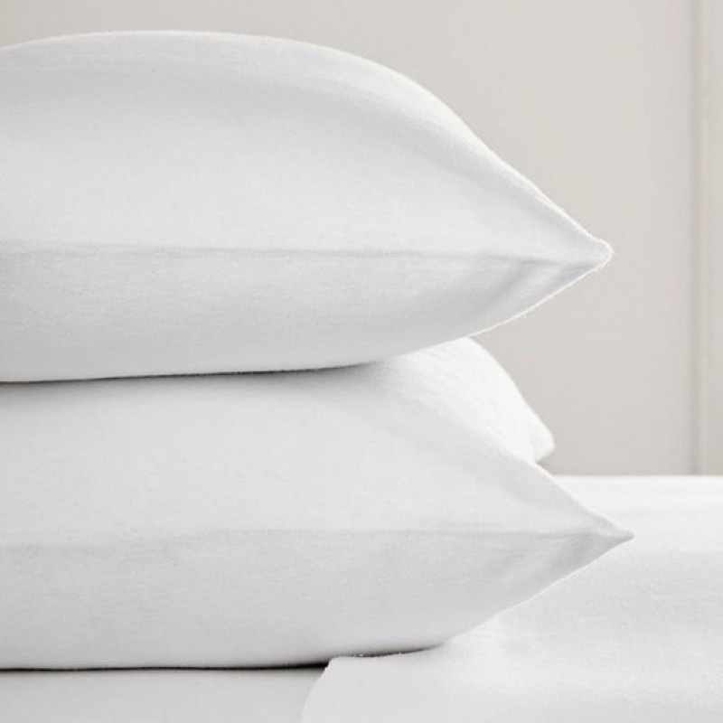 super king pillow case in 100 brushed cotton white or cream 107 x 50cm