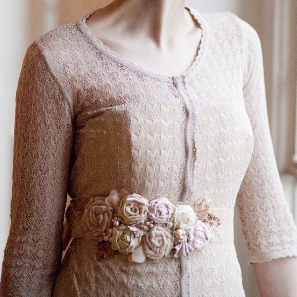 Vintage Blossom Bouquet Sash