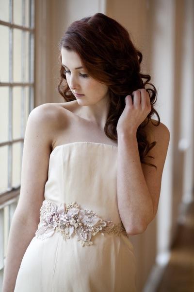 Vintage Floral Bridal Sash