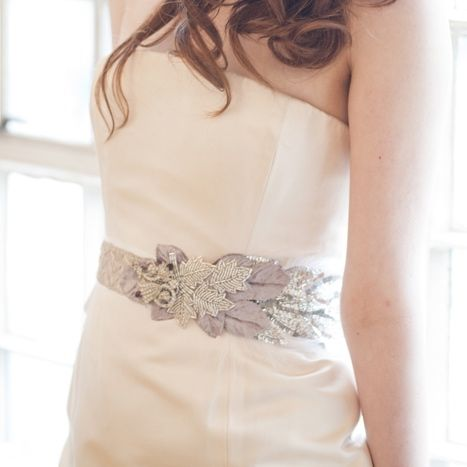 Jazz Age Sparkle and Feather Vintage Bridal Sash