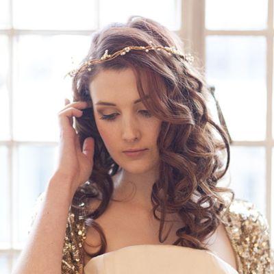 Bohemia Pearl and Bronze Bridal Crown