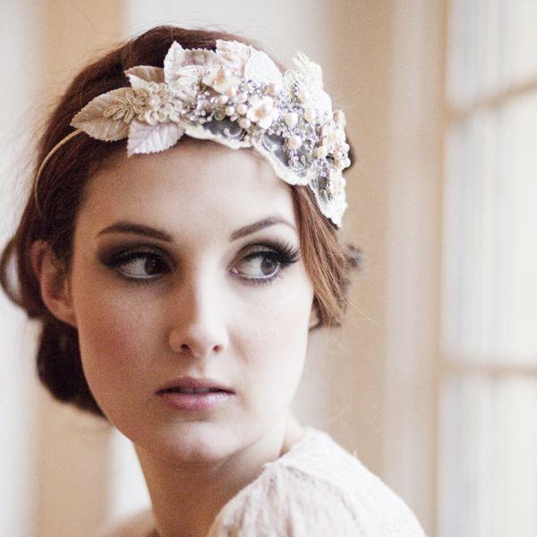 Vintage Milliner's Velvet Leaf Headdress