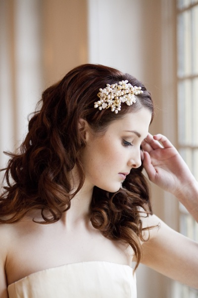 Autumn Glow Vintage Side Tiara