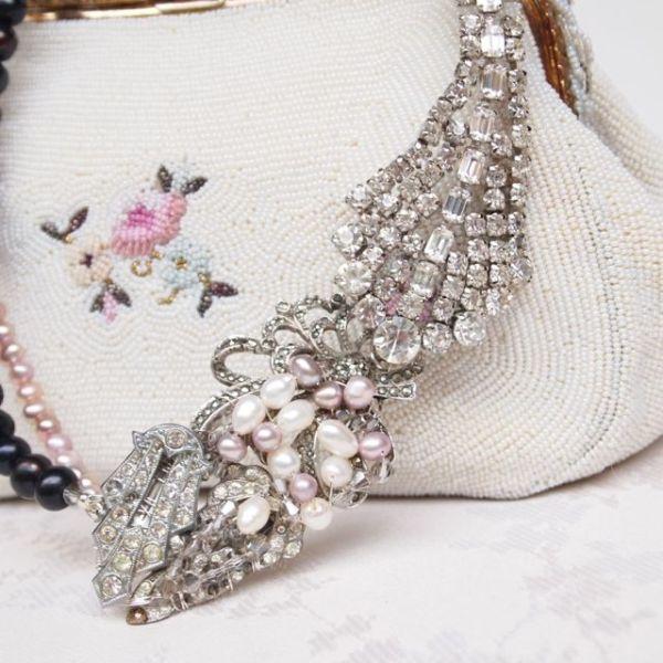 Bespoke Art Deco Vintage Bridal Necklace No.109