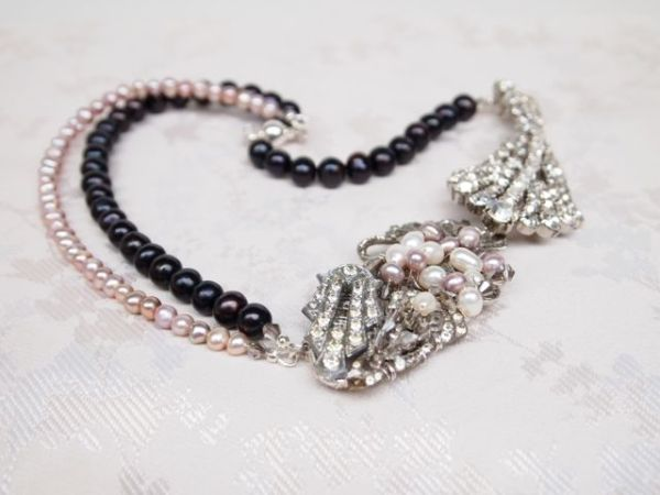 Bespoke Art Deco Vintage Bridal Necklace No.109