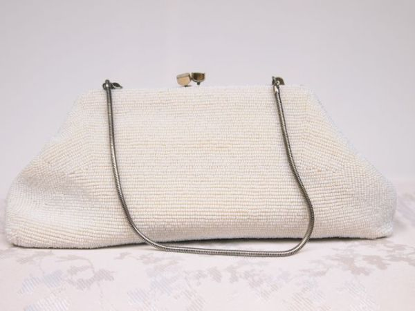1940's Beaded Vintage Bridal Clutch Bag No.127