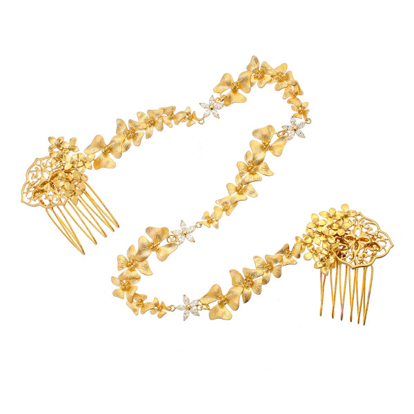 VICTORIA MILLESIME GD-H20-Gold-Dust-Orchid-Forehead-Band