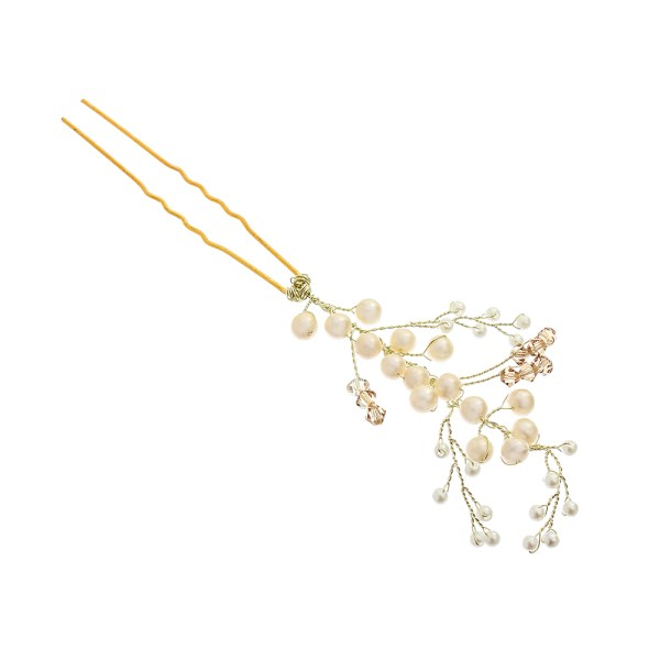 VICTORIA MILLESIME GD-P13-Golden-Shadow-Pearl-Hairpin-2