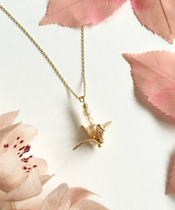 Origami Crane Bridesmaid Necklace