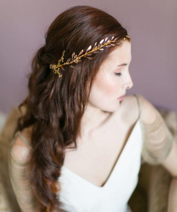Handmade Ethereal Gold Bridal Halo