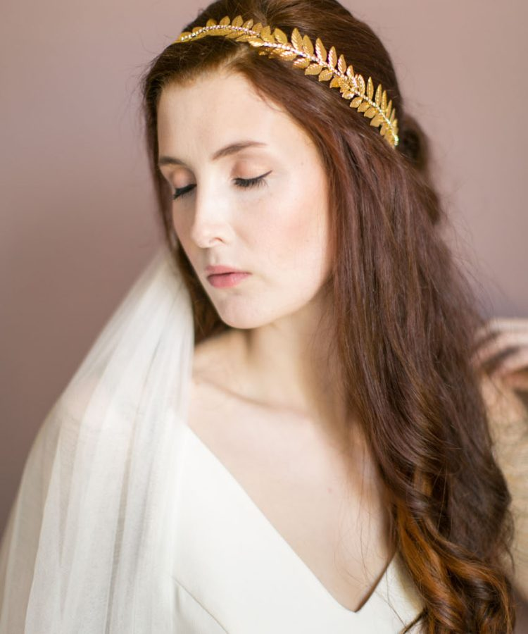 Handmade Gold Bridal Crown