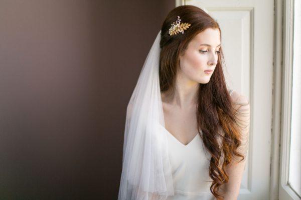 gold pearl bridal comb
