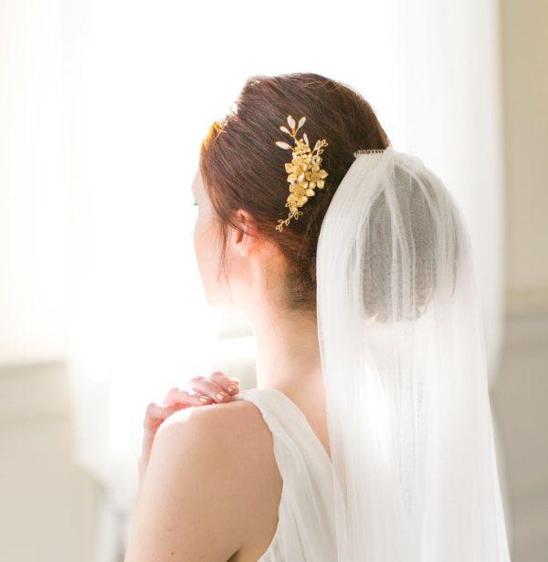 Handmade Gold Bridal Hair Comb