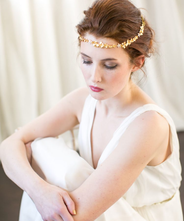 Handmade Gold Bridal Brow Band