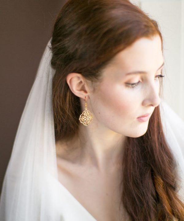 Handmade Gold Bridal Earrings