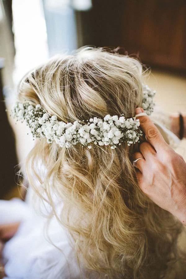 Baby's Breath Flower Crown for Weddings