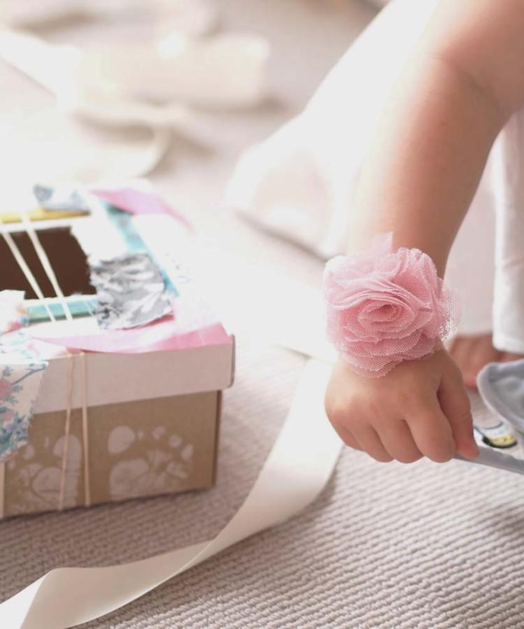 Flower Girl Rose Corsage Bracelet