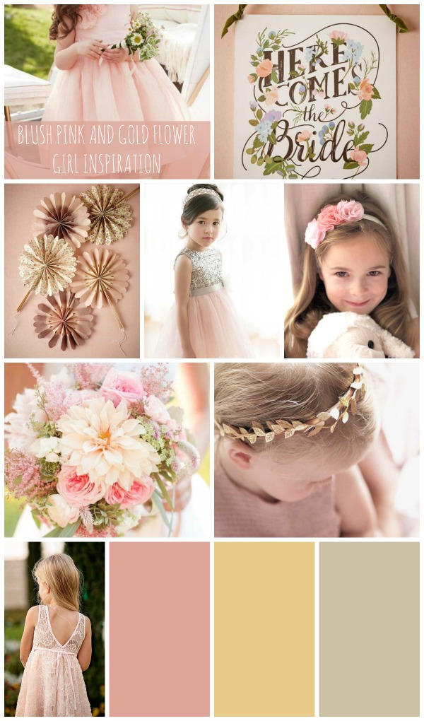 Blush Pink and Gold Flower Girl Inspiration