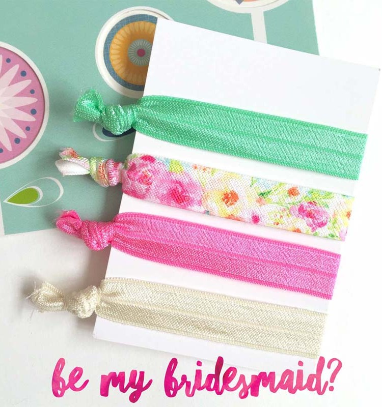 bridesmaid gift hair tie set