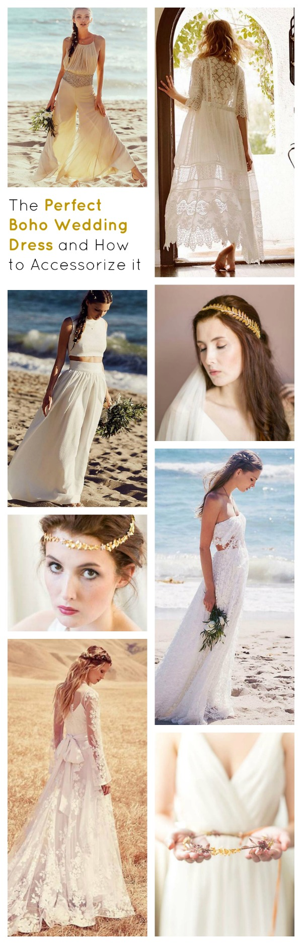 boho wedding dress accessories