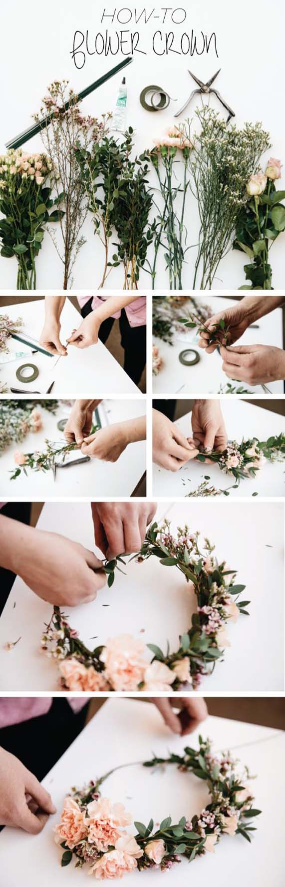 Easy Diy Flower Crown Beautiful Inspiration And The Best Tutorials