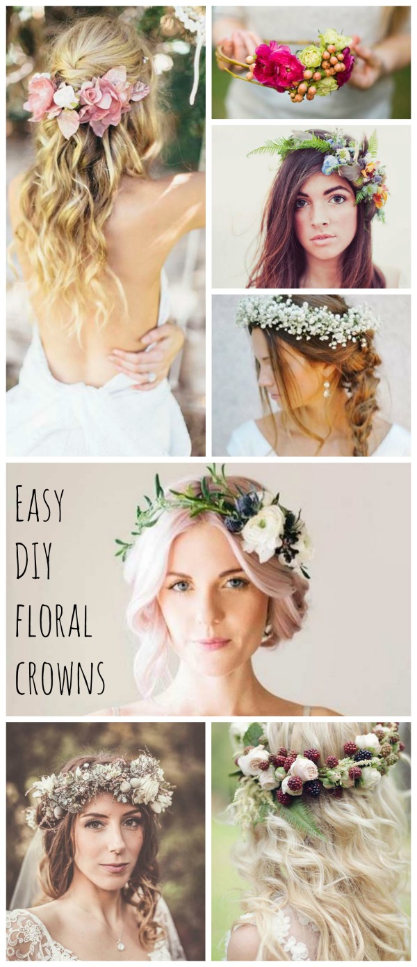 Easy diy flower crown beautiful inspiration and the best tutorials diy floral crown izmirmasajfo