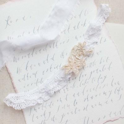 french lace bridal garter belt