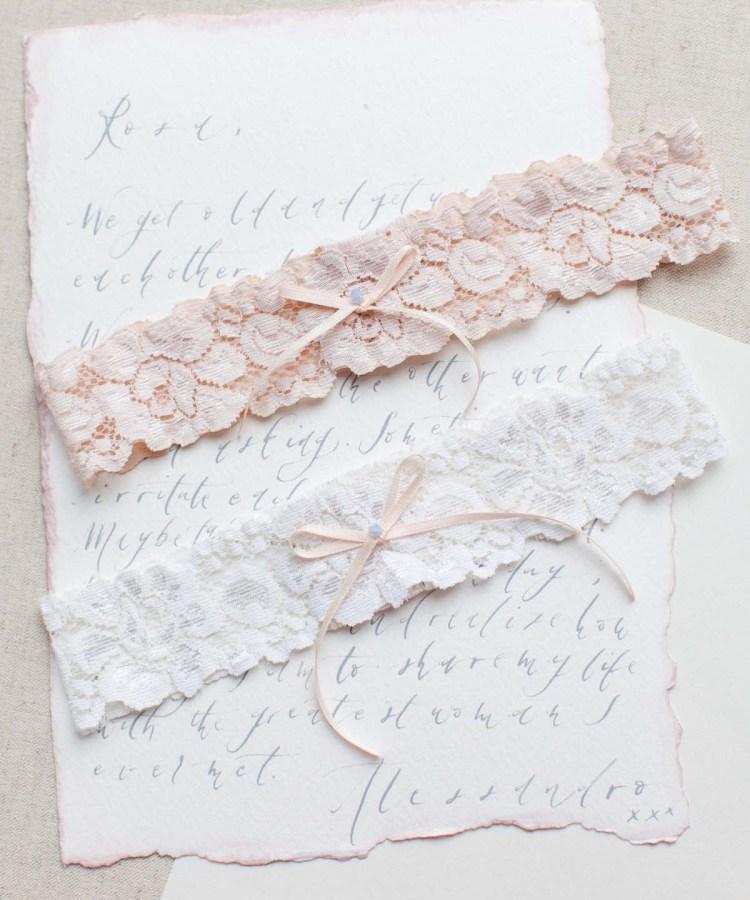 Garters Wedding: Orchid Wedding Garter In Blush Pink, Nude Or Ivory