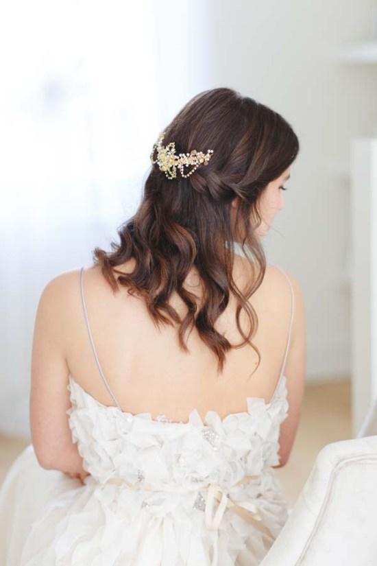 Tessa Gold Bridal Hair Comb
