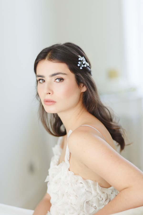 Iris I Blue Wedding Hair Pin