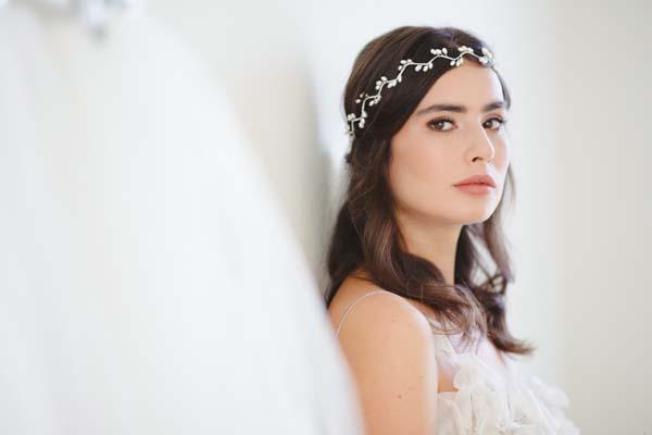 Willow Grecian Pearl Bridal Halo