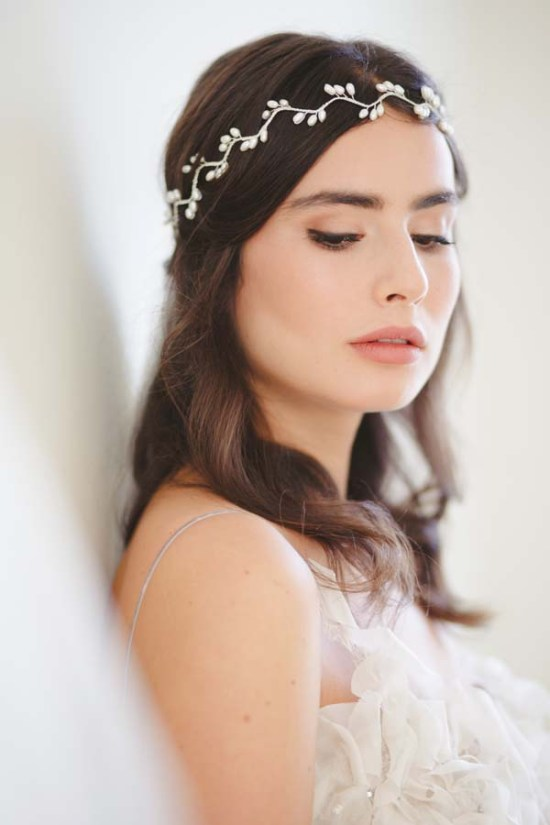 Willow Grecian Pearl Bridal Halo