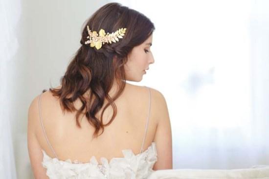 Ariana Gold Bridal Hair Comb