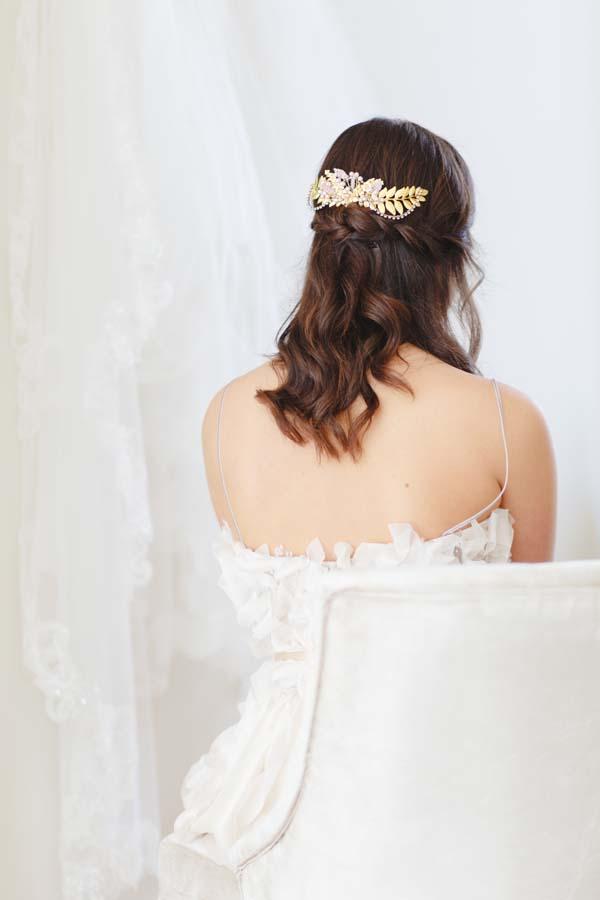 Gold Botanical Bridal Headpiece